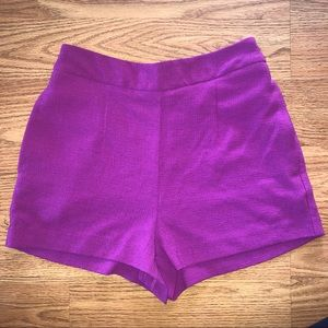 High Rise Pink Tailored Shorts